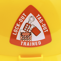 Lock-Out Tag-Out Qualified Hard Hat Decal