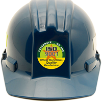 ISO 9001 COMMITMENT TO QUALITY Hard HAT Decals