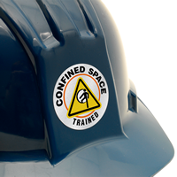 CONFINED SPACE TRAINED Hard HAT DECAL