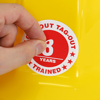 Lock Out Tag Training Hard Hat Stickers