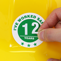Safe Work Hard Hat Stickers