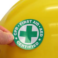 CPR Certified Hard Hat Decal