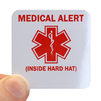 Medical Alert Hard Hat Decal