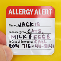 Alergy Alert Hard Hat Decal