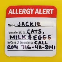 Alergy Alert Decal
