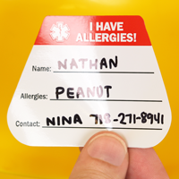 I Have Allergies Decal