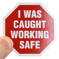 Safety Slogan Hard Hat Decal