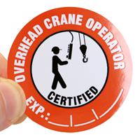 Writeable Hard Hat Crane Opertaor Decal