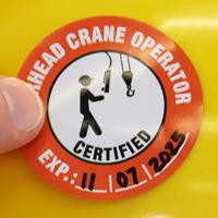 Certified Overhead Crane Operator Decal