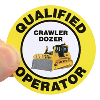 Hard Hat Qualified Operator Decals