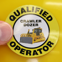 Qualified Operator Hard Hat Decals
