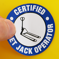 Certified Pallet Jack Operator Decal
