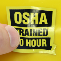 OSHA Trained Decal
