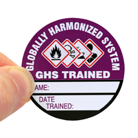 GHS Trained Write-On Hard Hat Decals