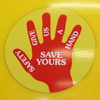 Safety Give Us A Hand Save Ours Hard Hat Decals