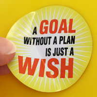 A Goal Without A Plan Is A Wish Hard Hat Decals
