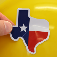 Texas Flag Hard Hat Decals
