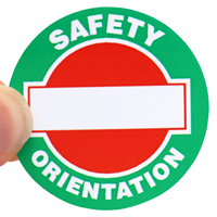 Write On Safety Orientation Decal