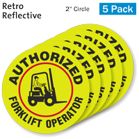 Authorized Fork Lift Operator Hard Hat Label