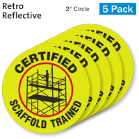 Certified Scaffold Trained Hard Hat Label
