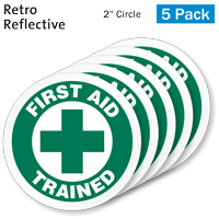 First Aid Trained Hard Hat Label