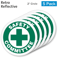 Safety Committee Hard Hat Label