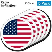 US Flag Hard Hat Label