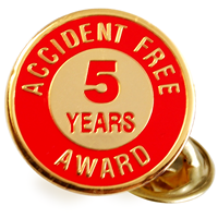 Accident Free Award Metal Lapel Pin