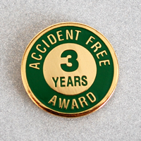 Enameled Metal 3 Years Lapel Pin