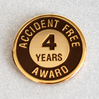 Enameled Metal 4 Years Lapel Pin