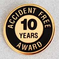 Enameled Metal 10 Years Lapel Pin