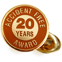 Accident Free Award 20 Years Pin