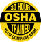 30 Hour OSHA Trained Company Name Custom Hard Hat Decal