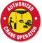 Authorized Crane Operator Hard Hat Decals