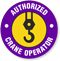 Authorized Crane Operators Hard Hat Decals