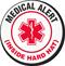 Medical Alert Inside Hard Hat Hard Hat Decals