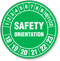 Safety Orientation Hard Hat Decals