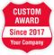 Add Award Name And Year Custom Hard Hat Decal