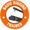 Trained Basic Rigging Hard Hat Decals